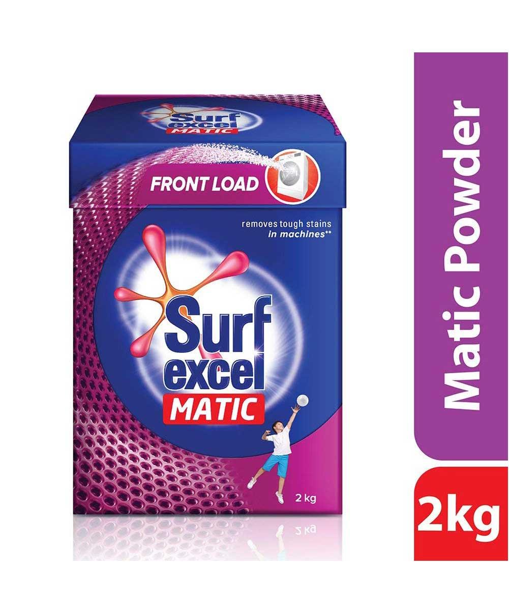Surf Excel Matic Front Load Detergent Powder, 2 kg