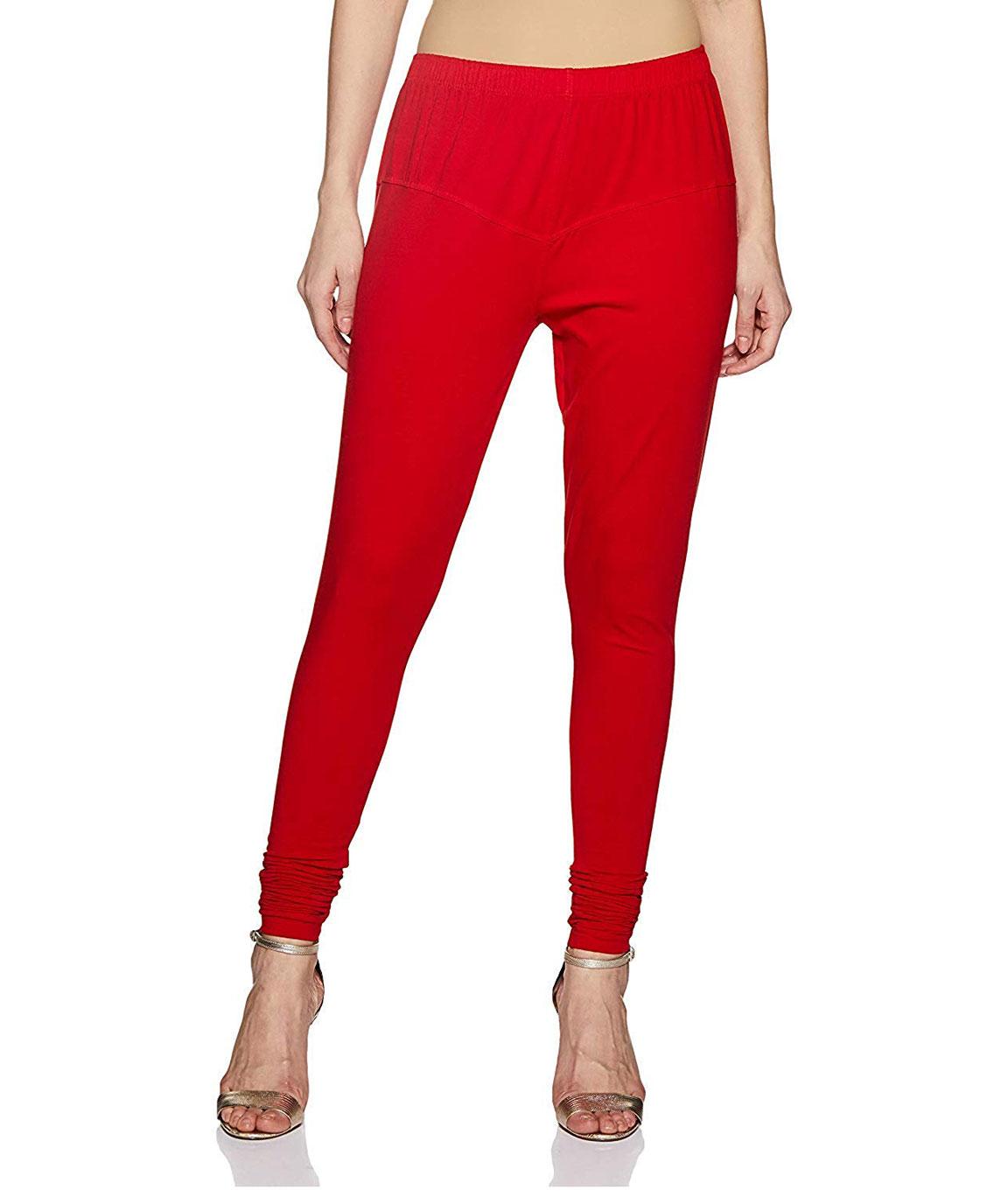 Swag  Cotton Leggings Churidar, Comfortable, and Soft Leggings(red)