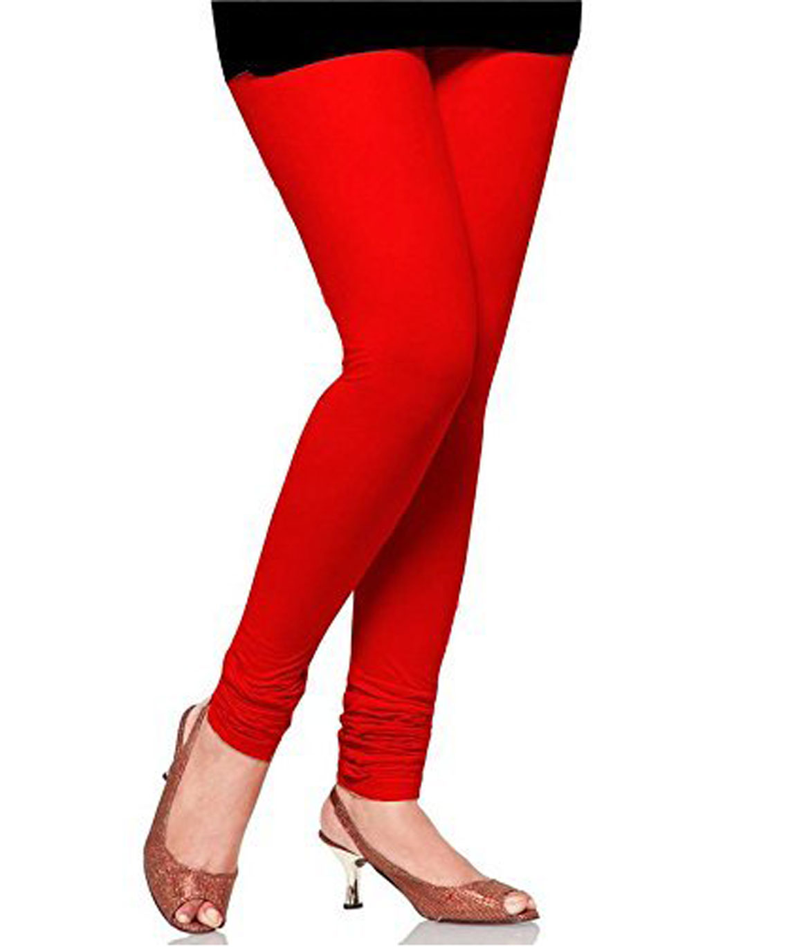 Swag  Leggings Churidar comfortable for girls stylish and soft leggings(red)