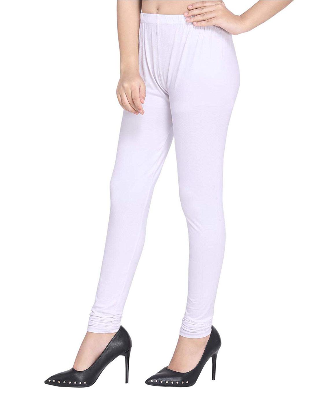 Swag Women`s Cotton Plain Leggings(white)