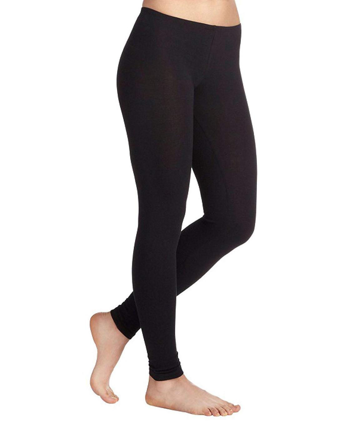Swag Women`s Cotton Churidar Leggings (COLOUR : Black)