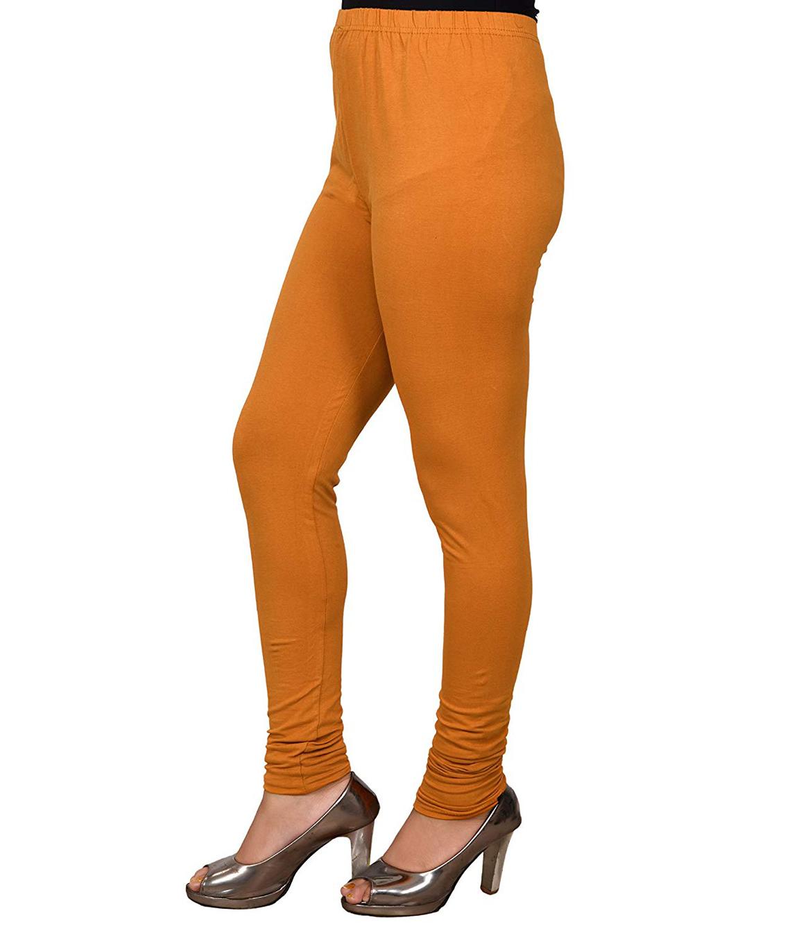 Swag Women`s Cotton Churidar Leggings (COLOUR : MUSTARD)