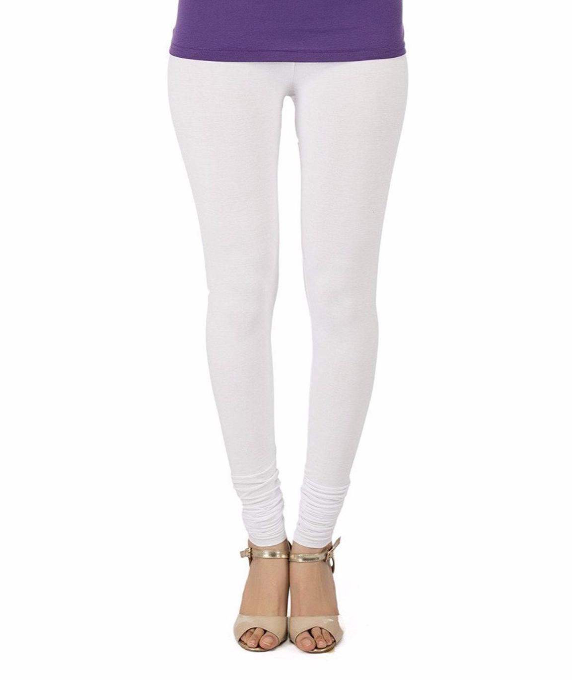 Swag Women`s Cotton Churidar Leggings (COLOUR : WHITE)