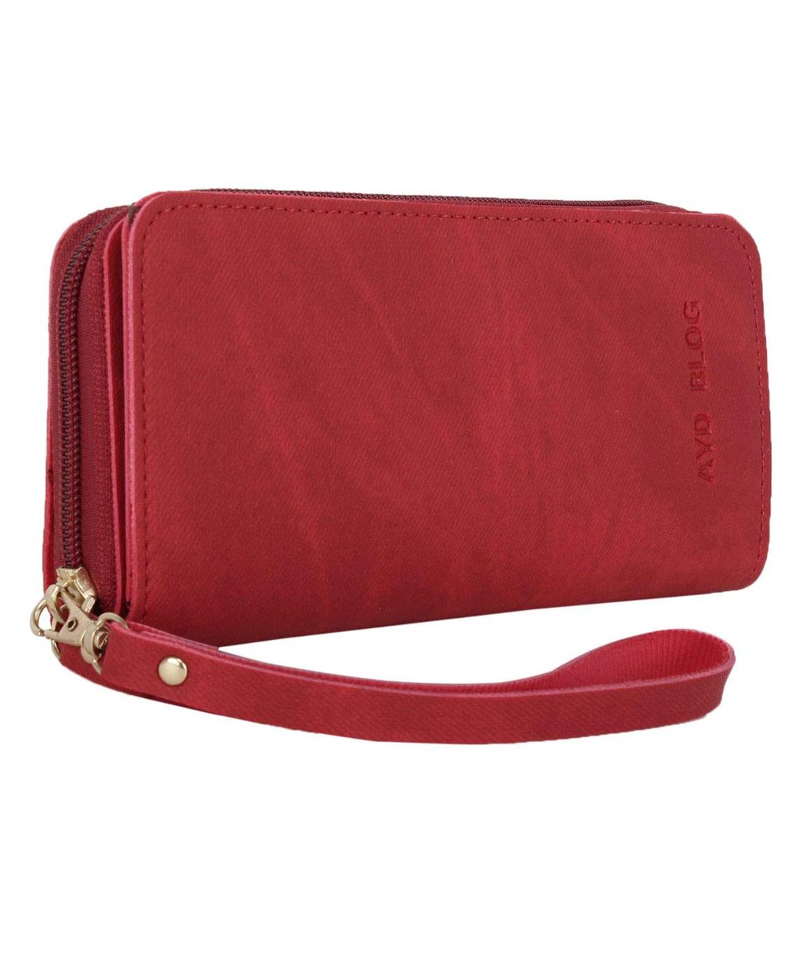 Talat Fashion PU Leather Stylish Wallet/Clutch/Purse for Women & Girls(red)