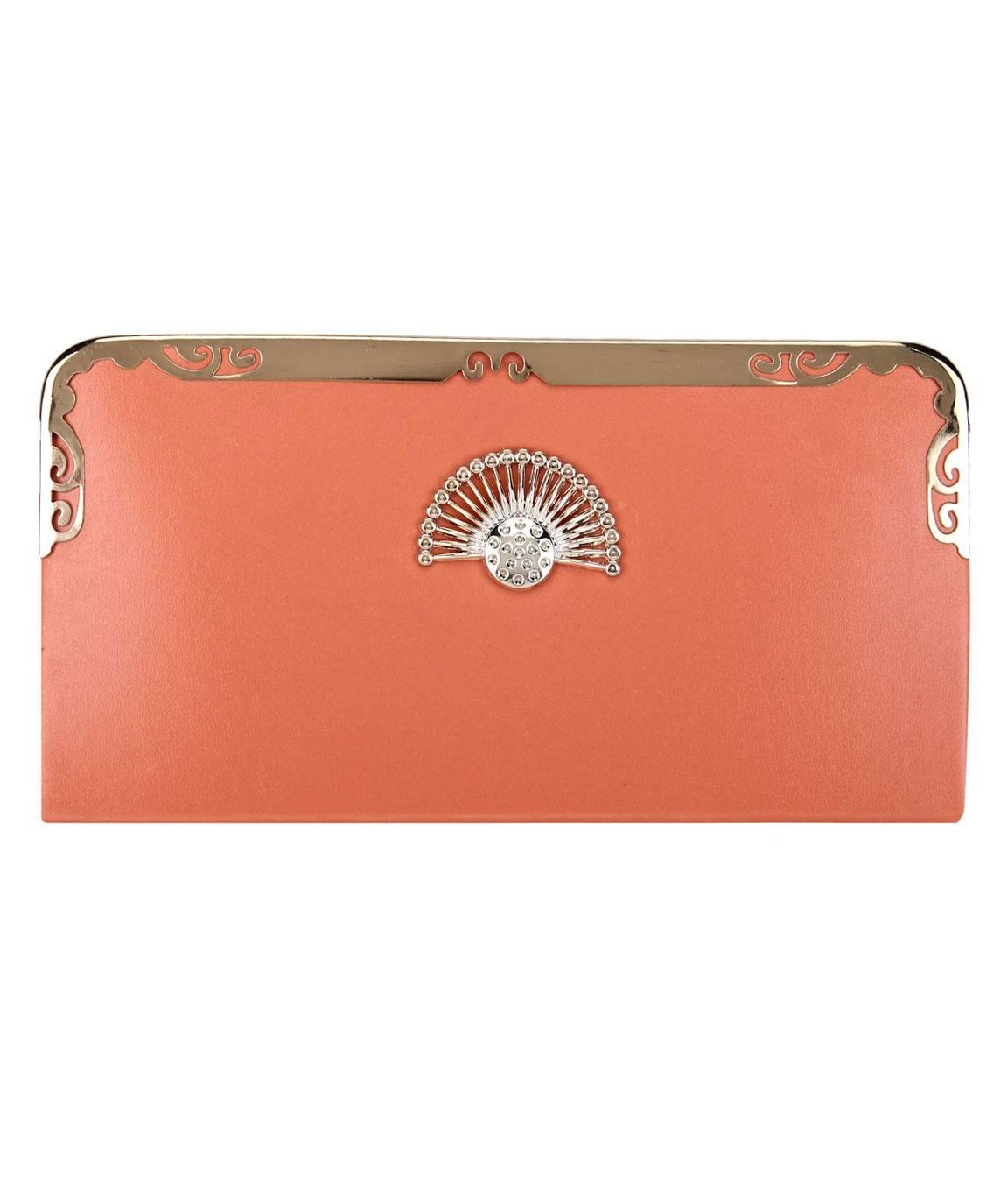 Talat Fashion PU Leather Stylish Wallet/clutch/purse(peach)