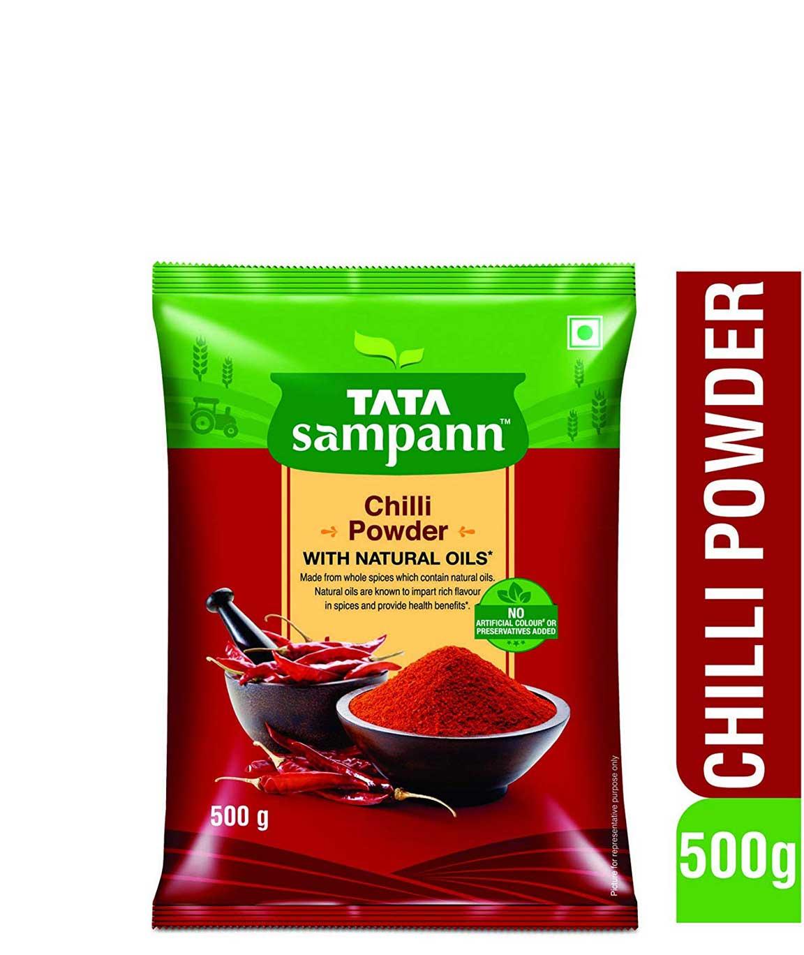 Tata Sampann Chilli Powder, 500gm