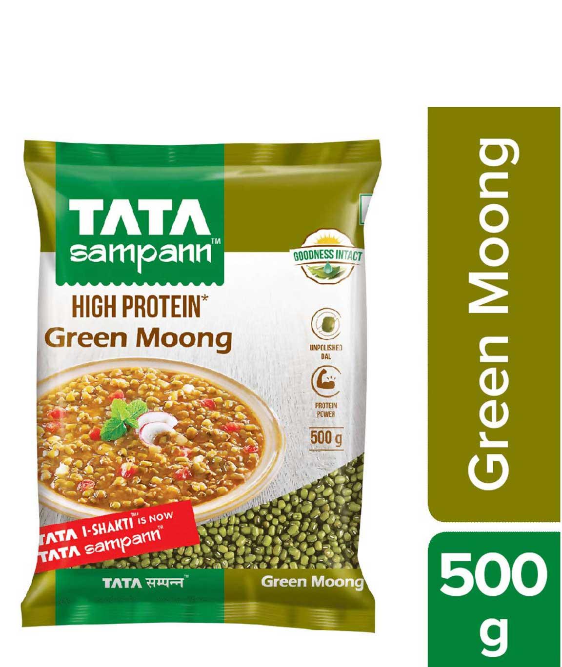 Tata Sampann Green Moong Whole 500g