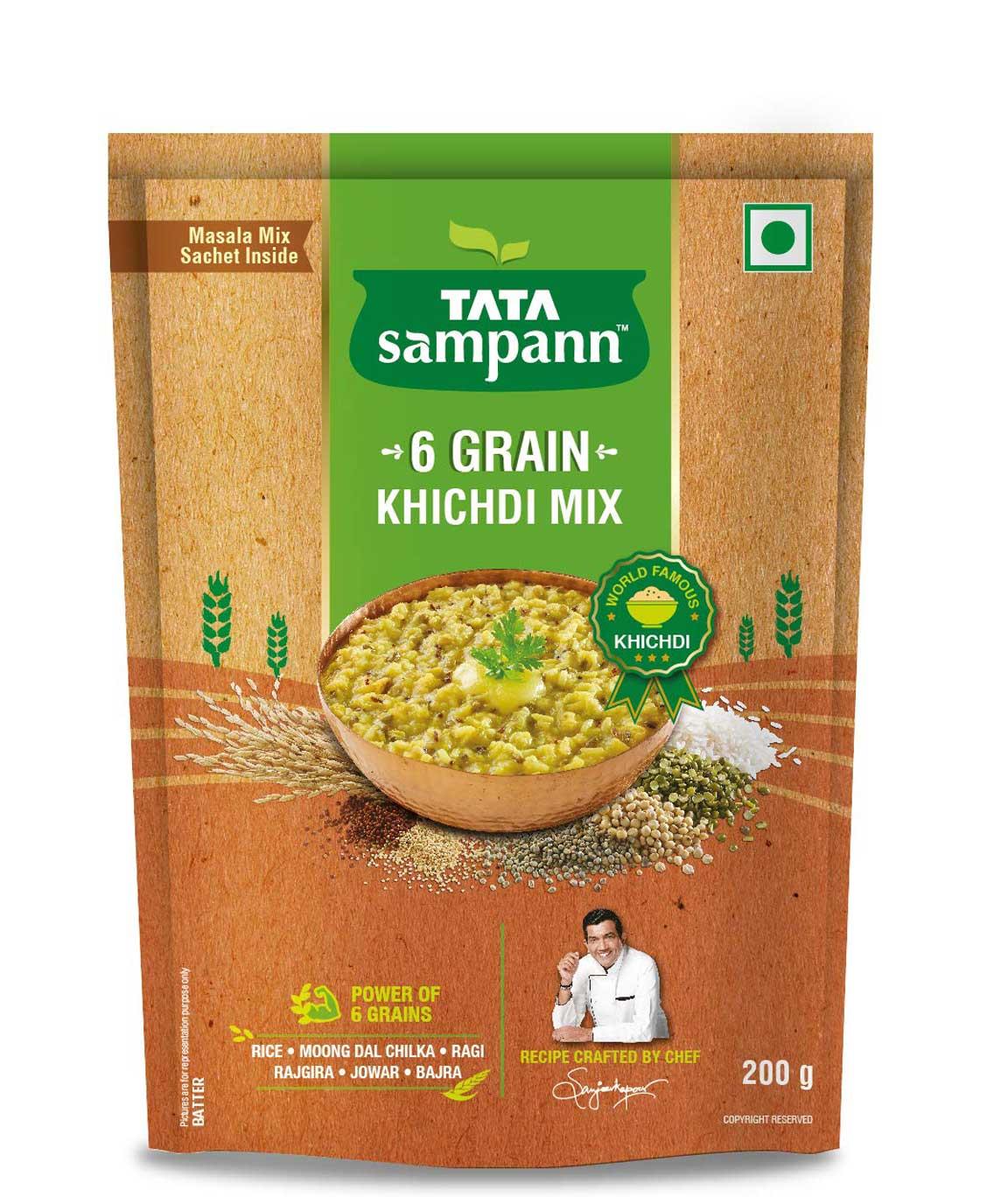 Tata Sampann Multigrain Khichdi Mix, 200gm