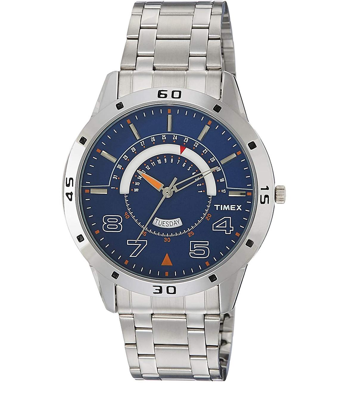 Timex Analog Blue Dial Men`s Watch-TW000U907