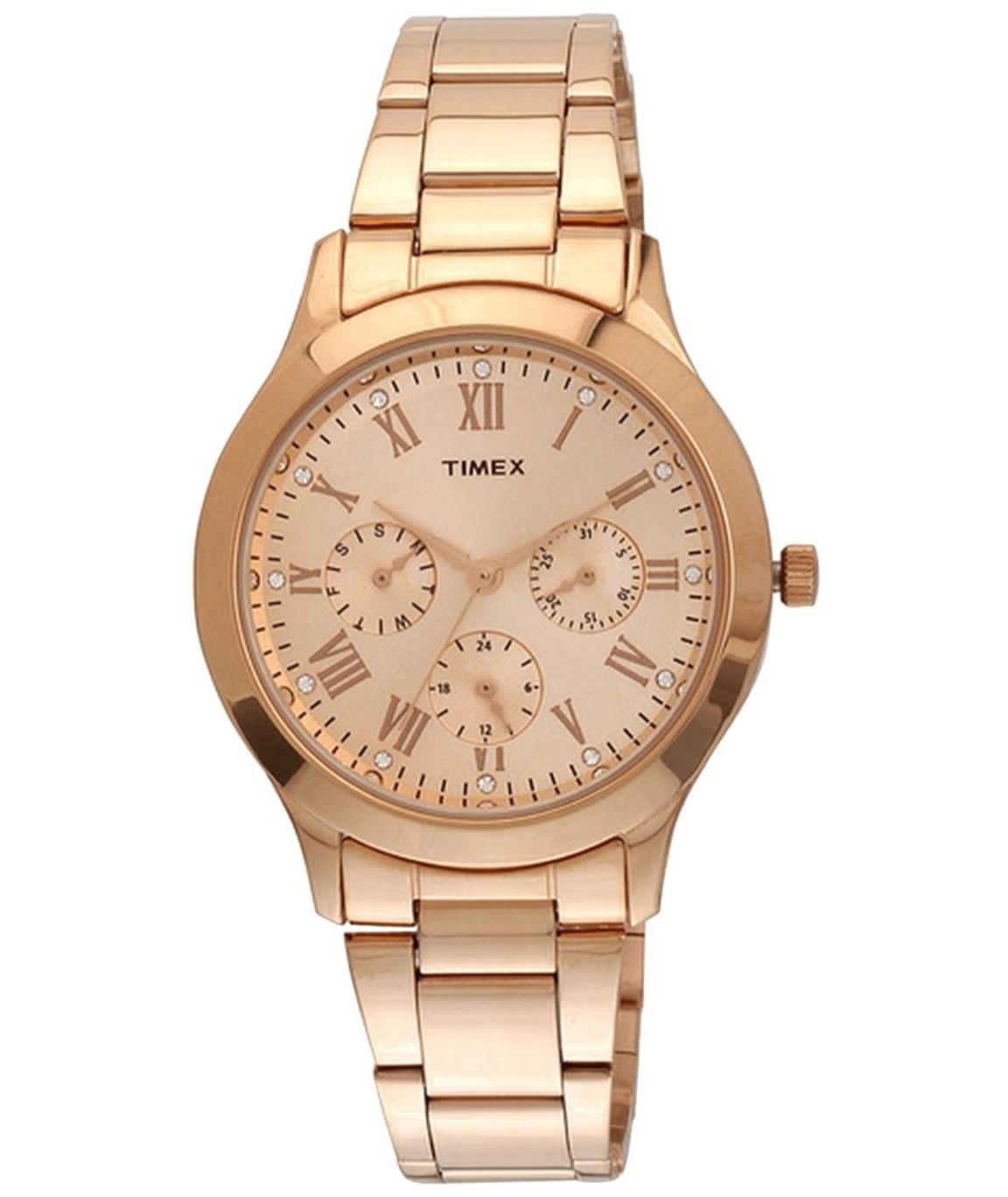Timex Analog Gold Dial Women`s Watch - TW000Q810
