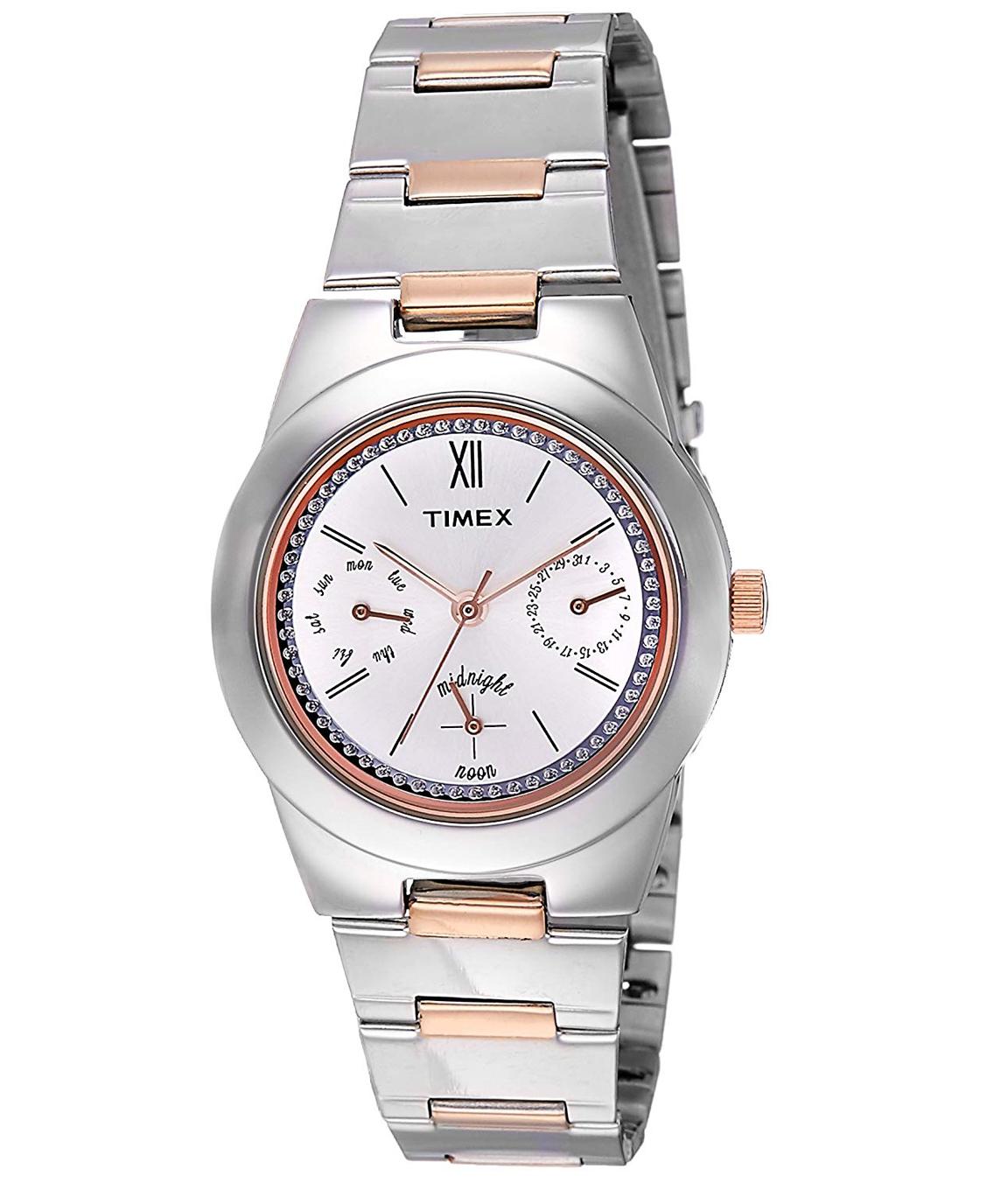 Timex Analog Silver Dial Women`s Watch - TW000J109