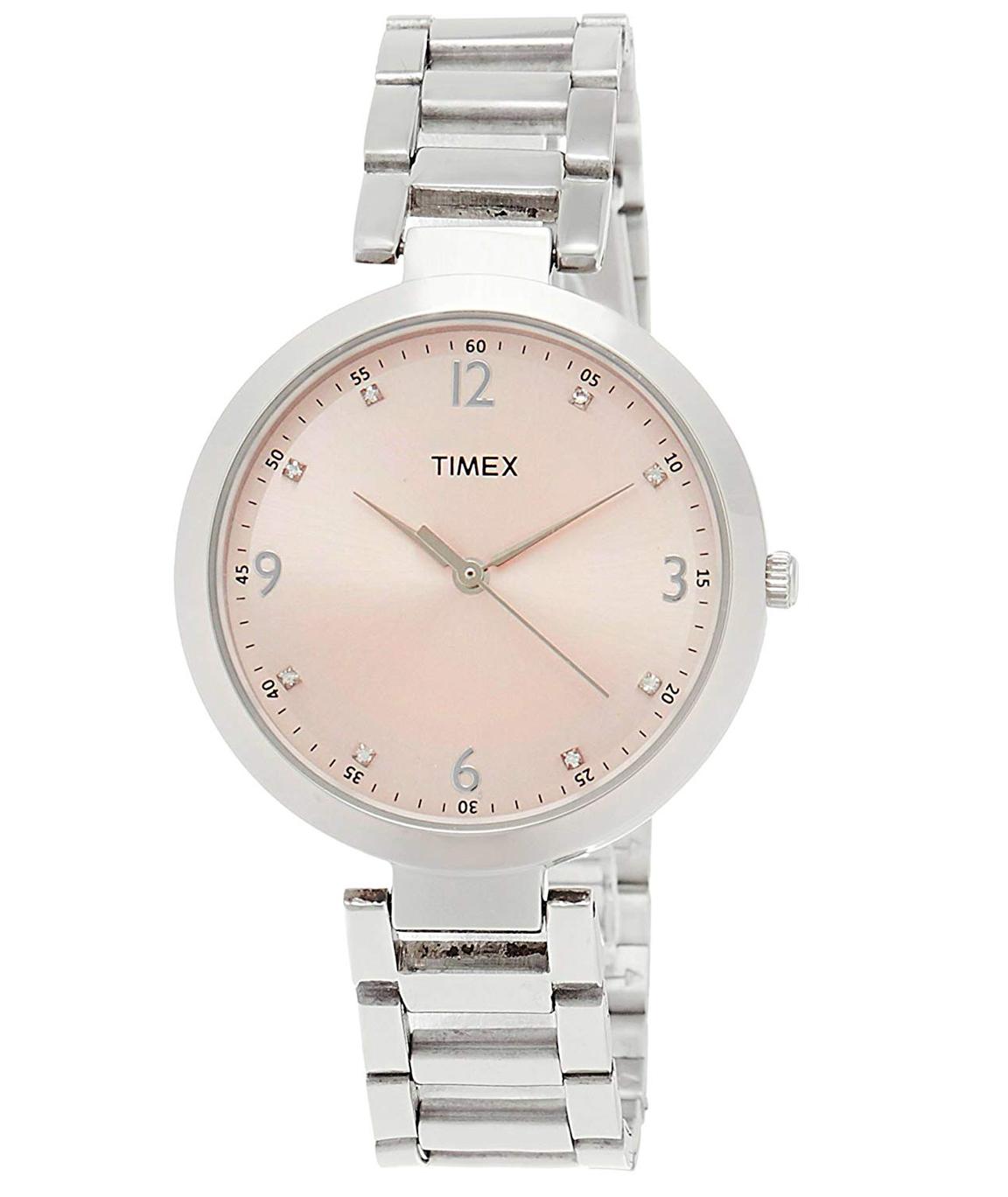 Timex Fashion Analog Pink Dial Women`s Watch - TW000X201