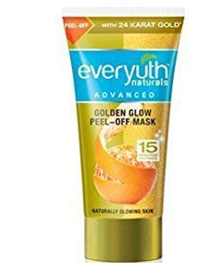 Everyuth naturals advanced golden glow peel of mask 90gm