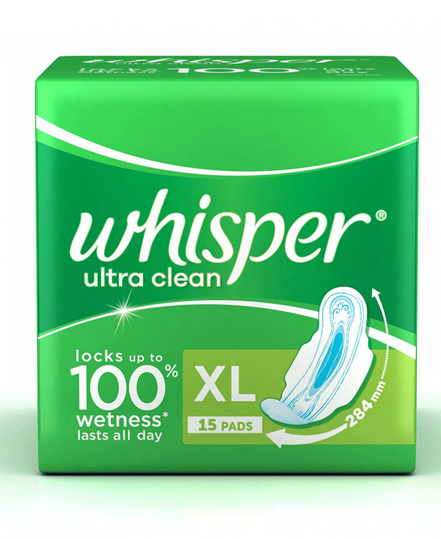 Whisper ultra clean xl 15 count