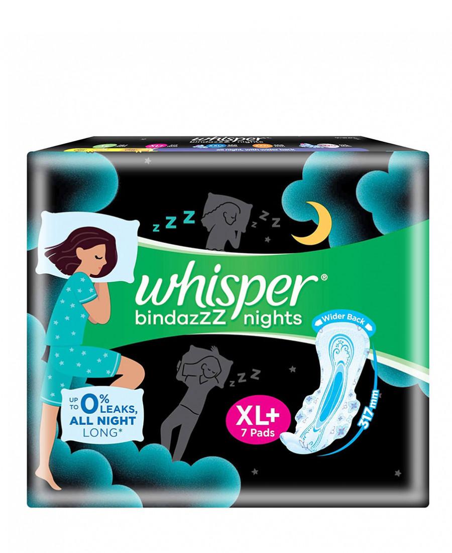 Whisper ultra night  xl 7 count
