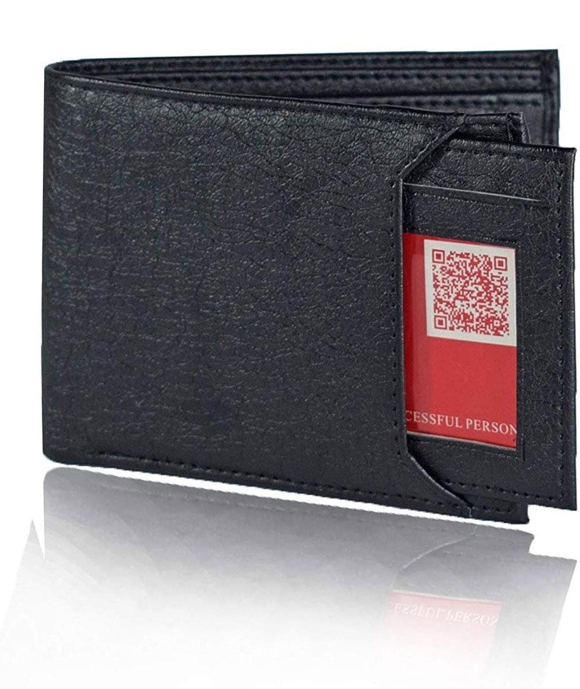 Urban alfami Mens Black Wallet, Purse for Men, Black Wallet