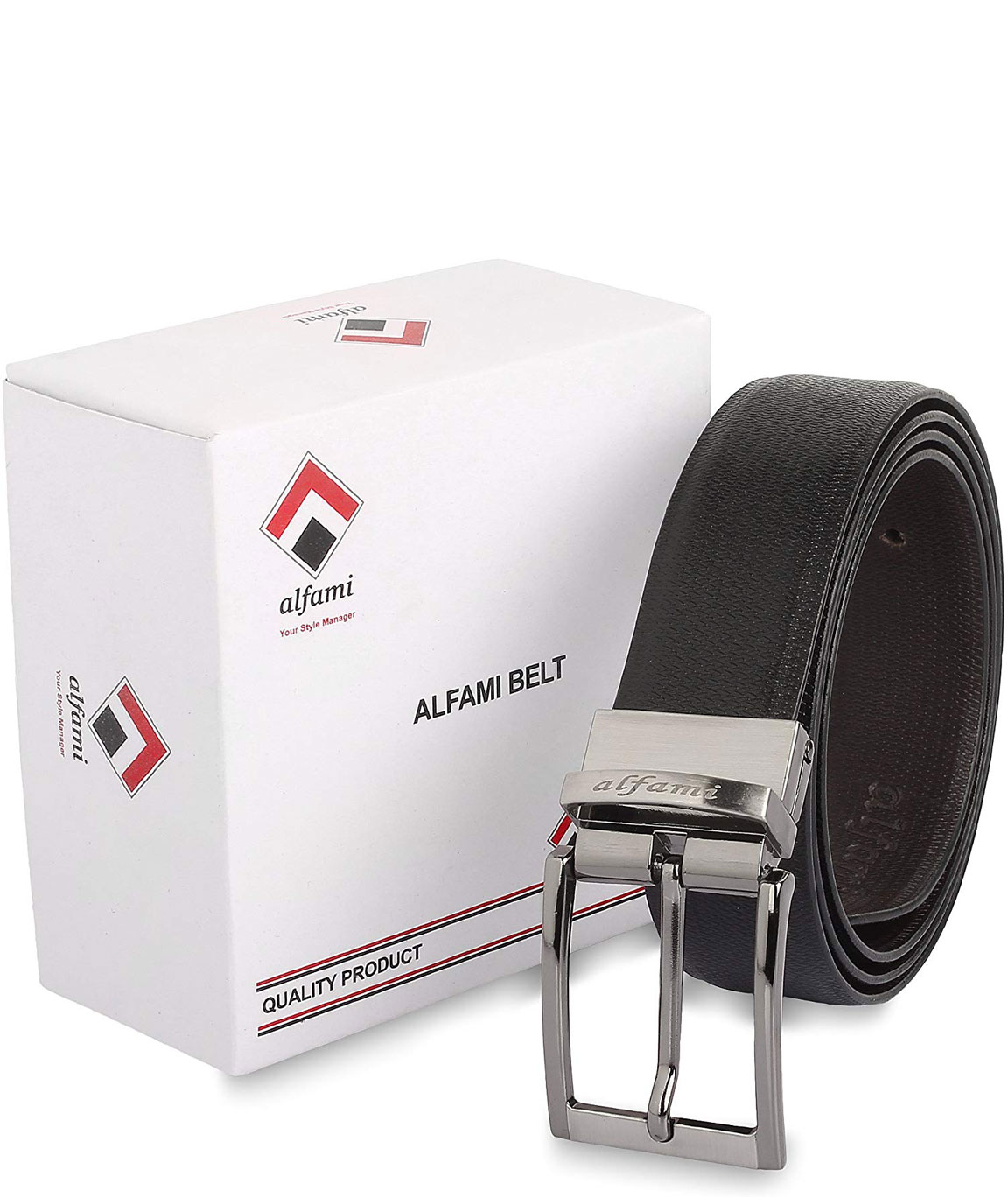 Urban Alfami Mens/Gents/Boys Genuine Leather Reversible Belt | Black/Brown | Formal/Casual/Party Wear | All Sizes | 1 Year Replacement Warranty