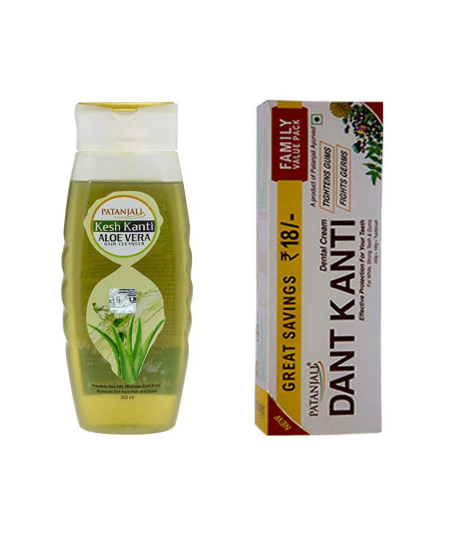 VADMANS Dantkanti Natural Toothpaste Value Pack(200+100g paste +75g soap) & Aloevera Shampoo 200ml (For Dry & Rough Hair)