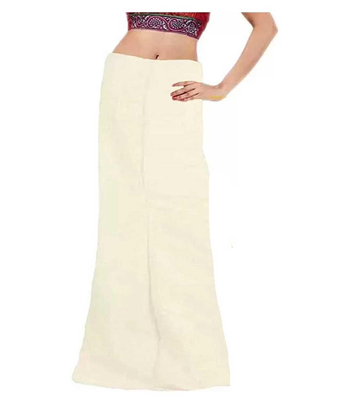 Vaestiario Cotton Multicolor Petticoats Combo of 4