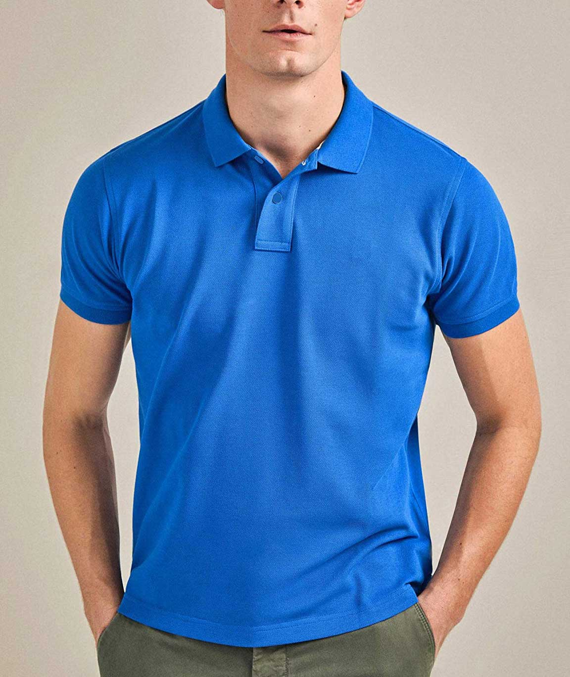 Vestiario Cotton Blended Polo Neck T-Shirt- 6 Colour Options