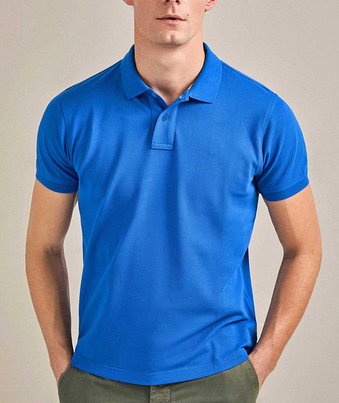 Vestiario Cotton Blended Polo Neck T-Shirt- 6 Colour Options
