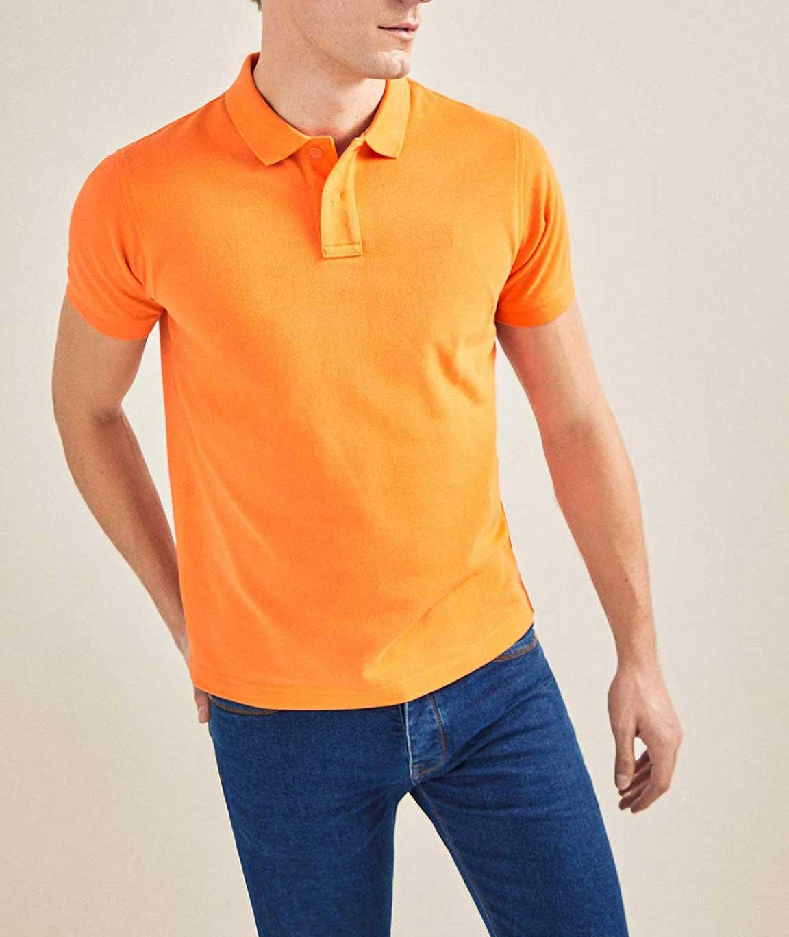 Vestiario Cotton Blended Polo Neck T-Shirts Sizes 38 to 44