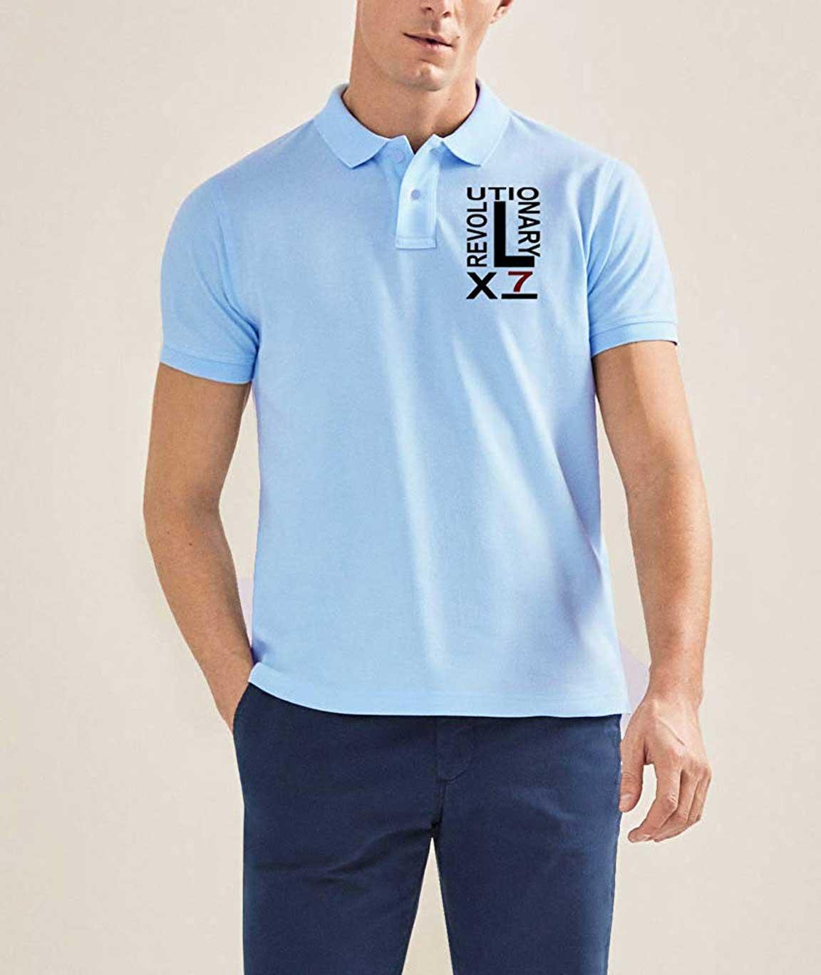 Vestiario Cotton Printed Polo Neck t-Shirt