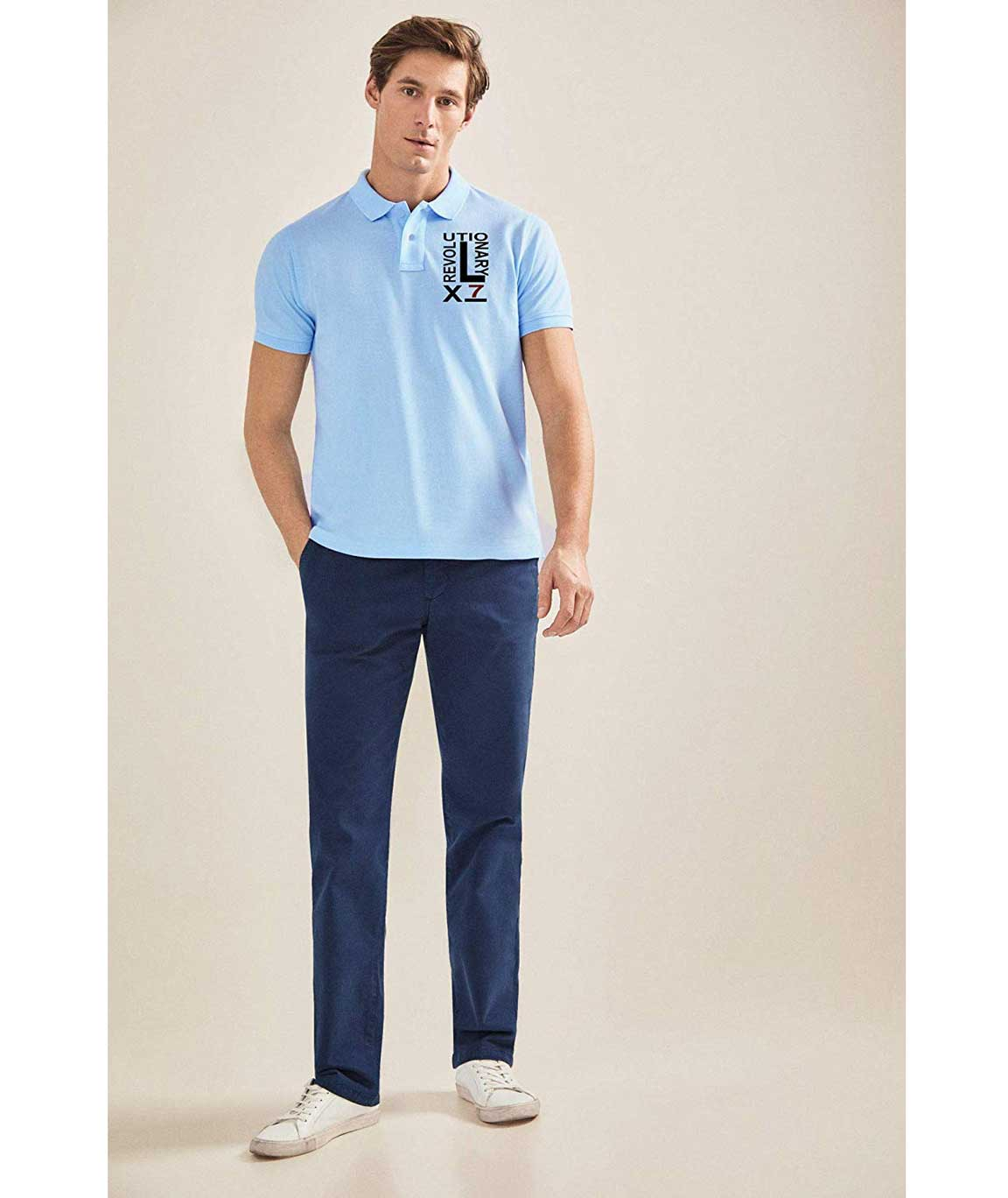 Vestiario Cotton Printed Polo Neck t-Shirt Combo of 2