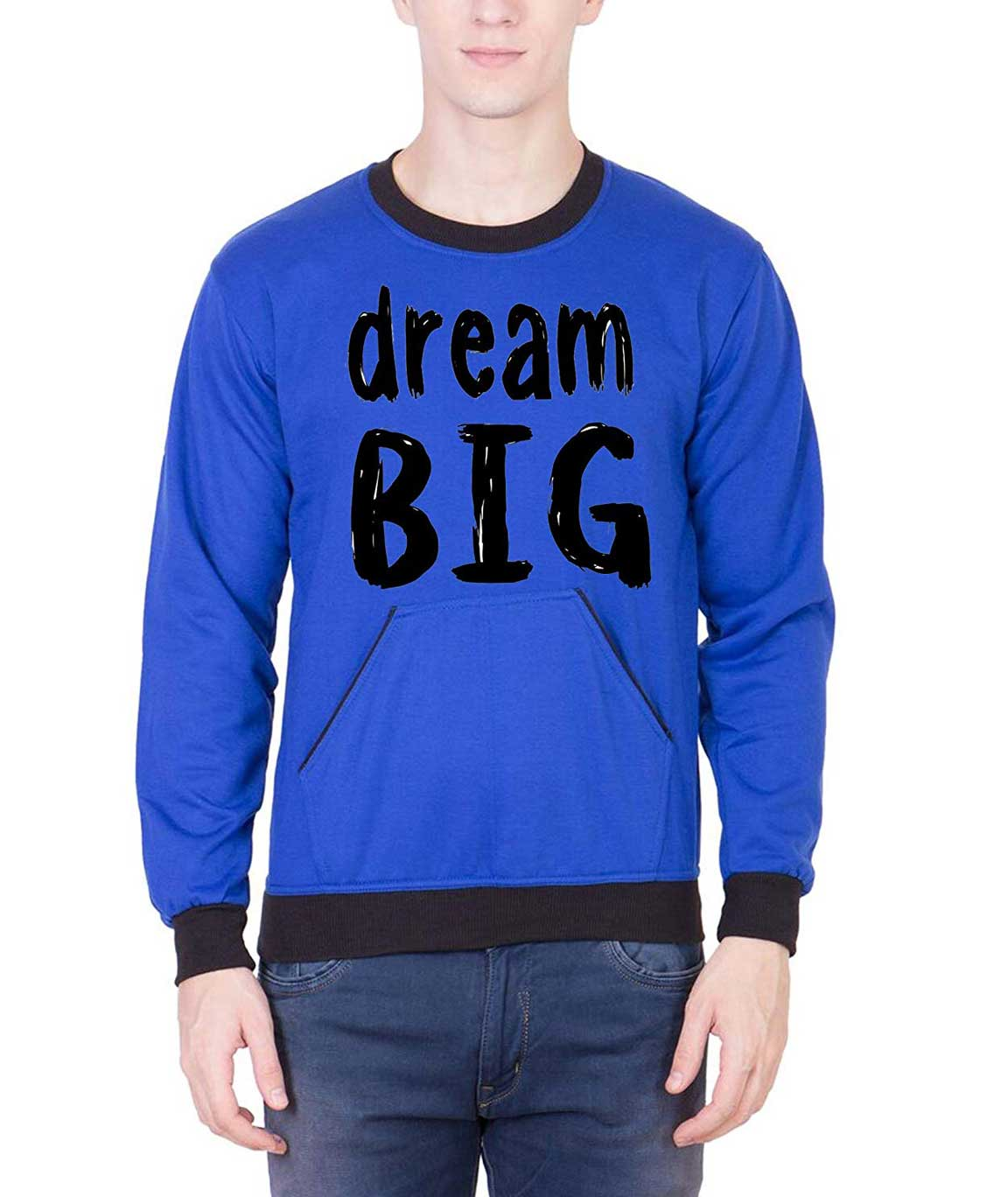 Vestiario Dream Big Round Neck Sweatshirt with Free Black Cap