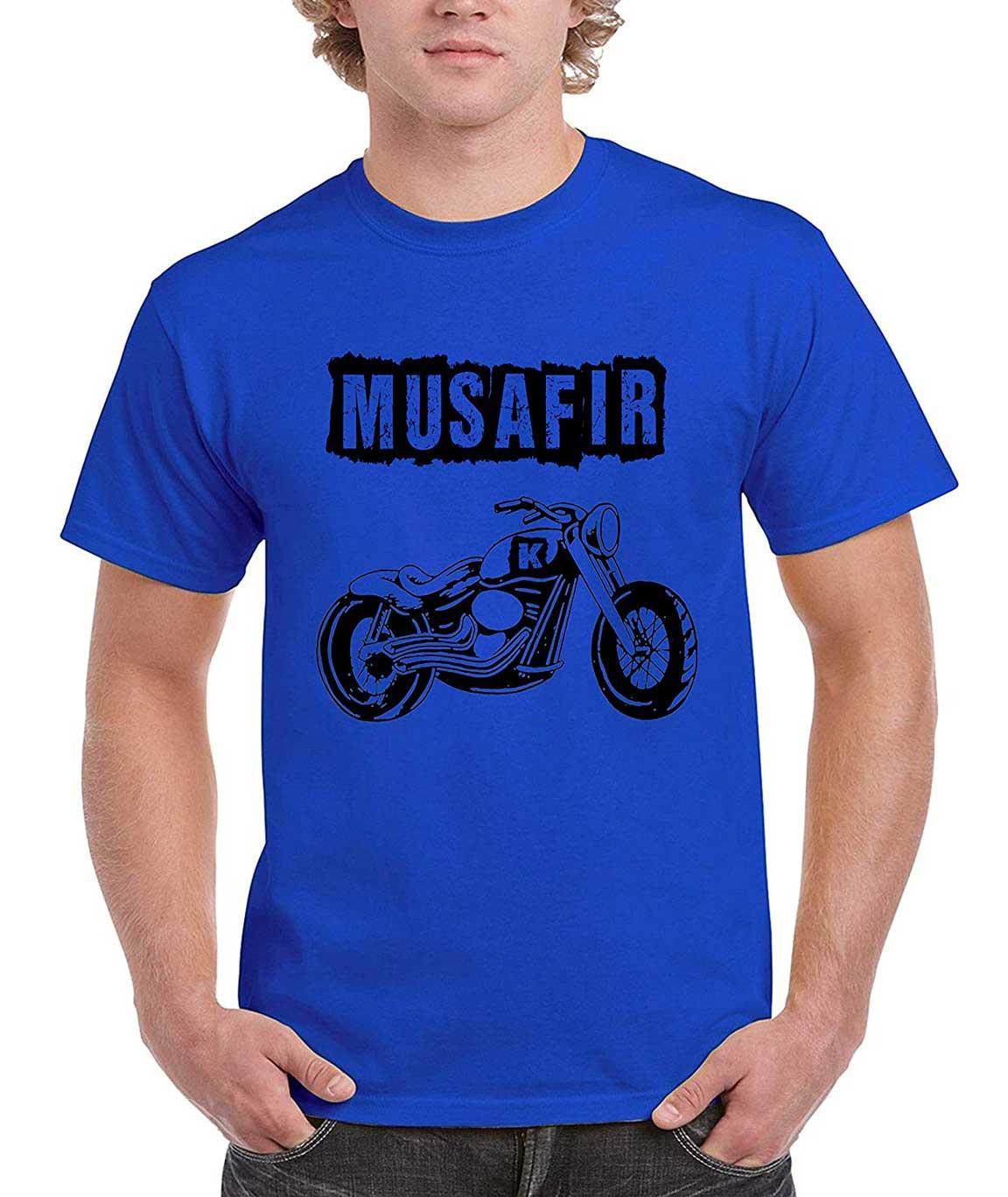 Vestiario Super Dry Fit Printed Round Neck Blue T-Shirt