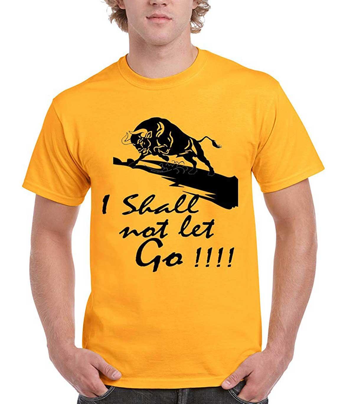 Vestiario Super Dry Fit Printed Round Neck Yellow T-Shirt