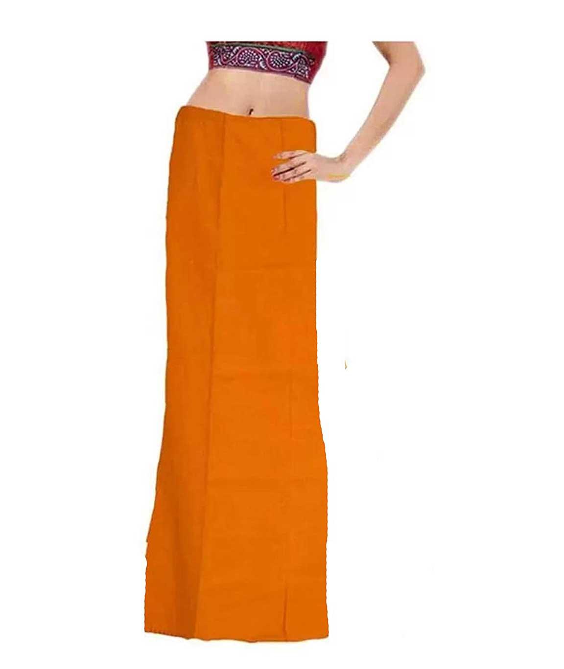 Vestiario Women`s Cotton Petticoats (Multicolour, Free Size) -Combo of 4