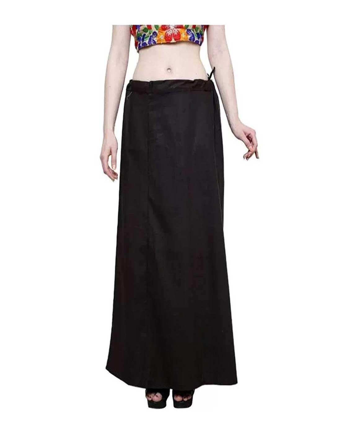 Vestiario Women`s Cotton Petticoats (PET-35-10-13-GOLU, Multicolor, Free Size) -Combo of 4