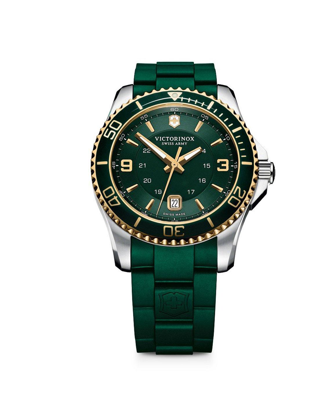 Victorinox Maverick Swiss Army Quartz Green Dial Men`s Watch
