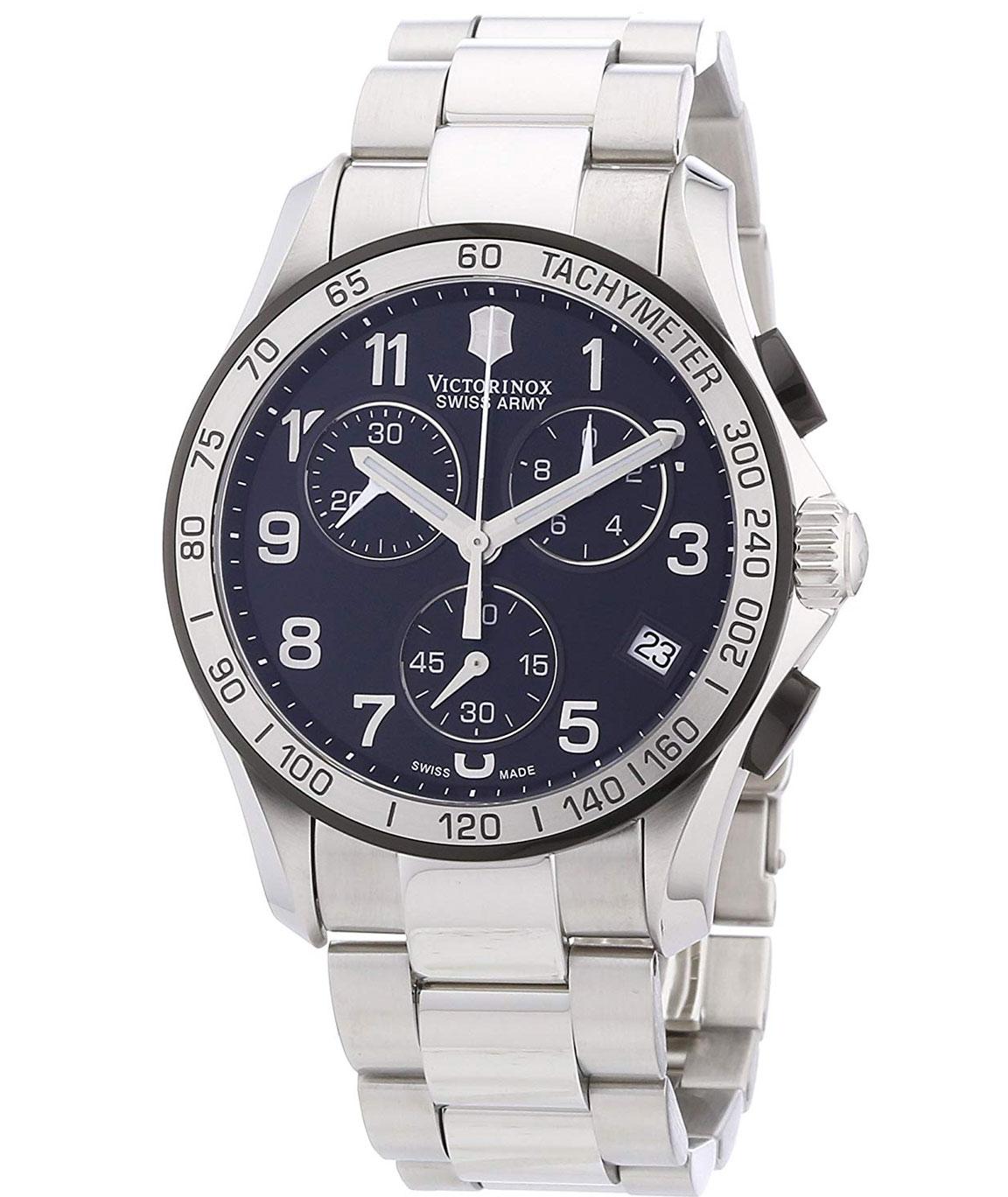 Victorinox Swiss Army Black Dial Chrono Classic Chronograph Men`s Watch