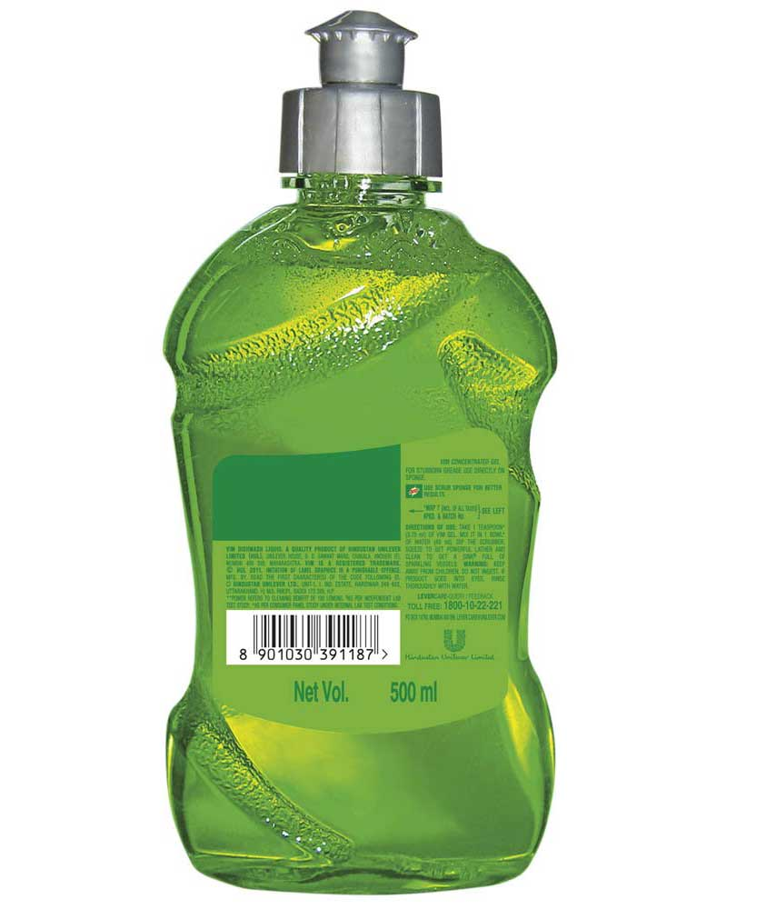 Vim Dishwash Gel - 500 ml (Lime)