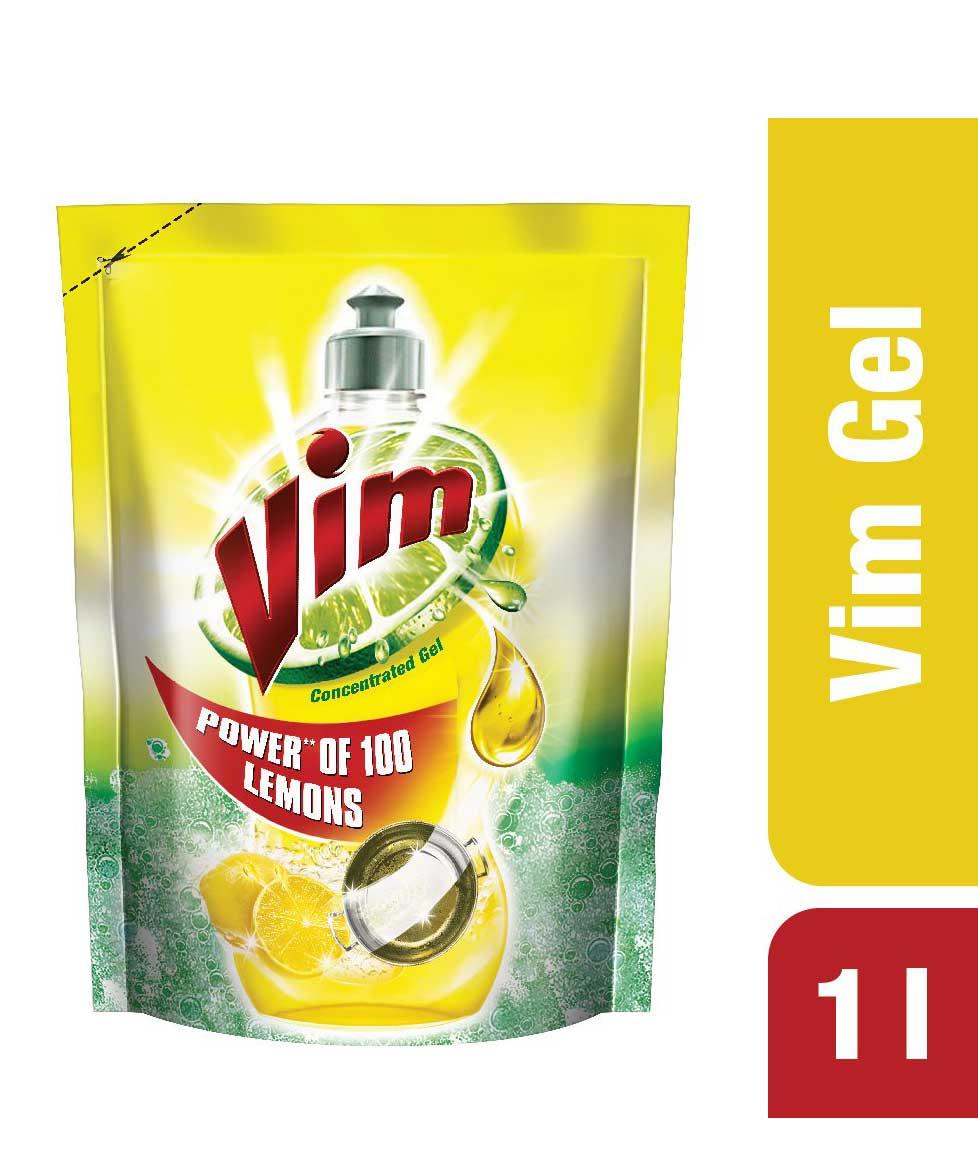 Vim Dishwash Gel - Lemon - 1 L