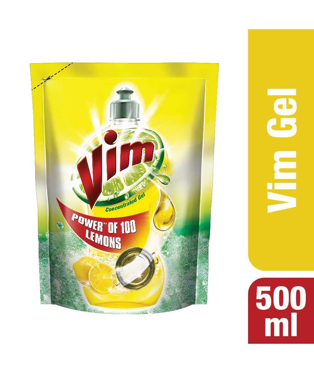 Vim Dishwash Liquid Lemon - 500 ml