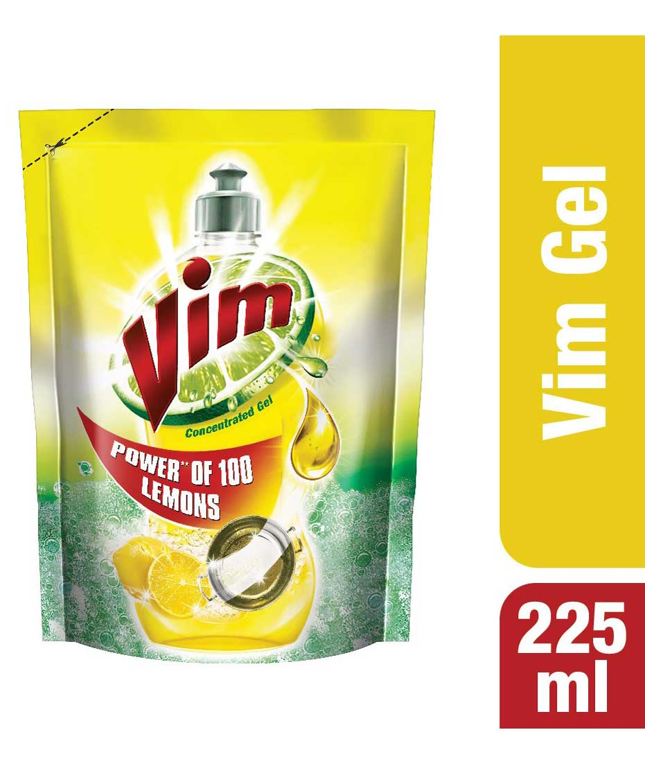 Vim Liquid Yellow Pouch - 225 ml