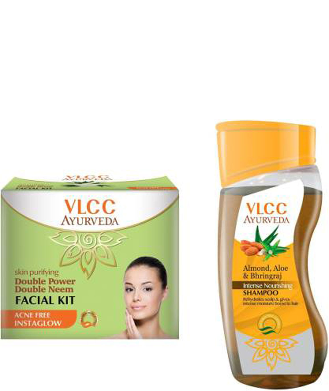 VLCC Double Neem Facial Kit and Ayurveda Shampoo Combo