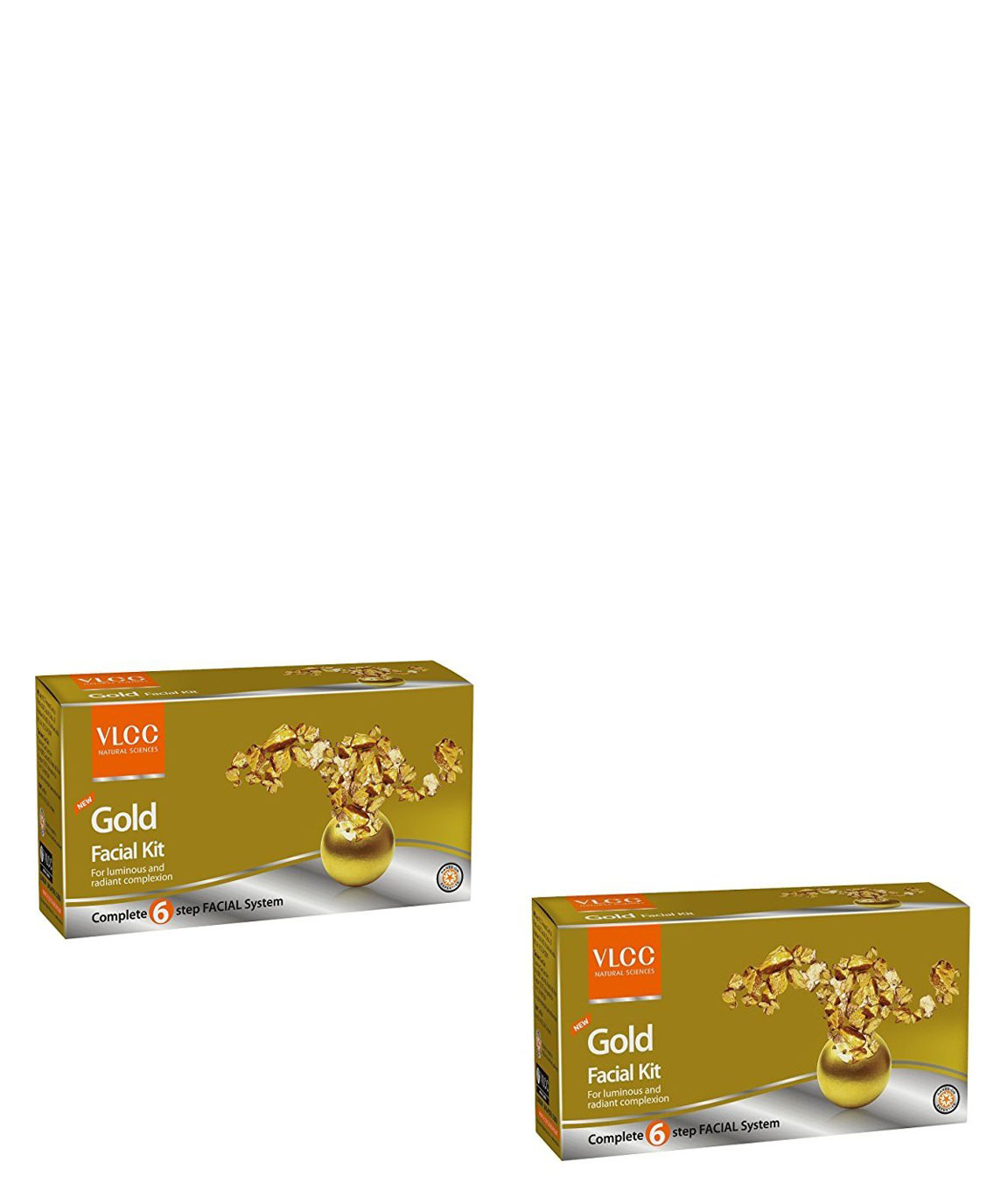 Vlcc Gold Facial Kit - 60G (Pack Of 2)