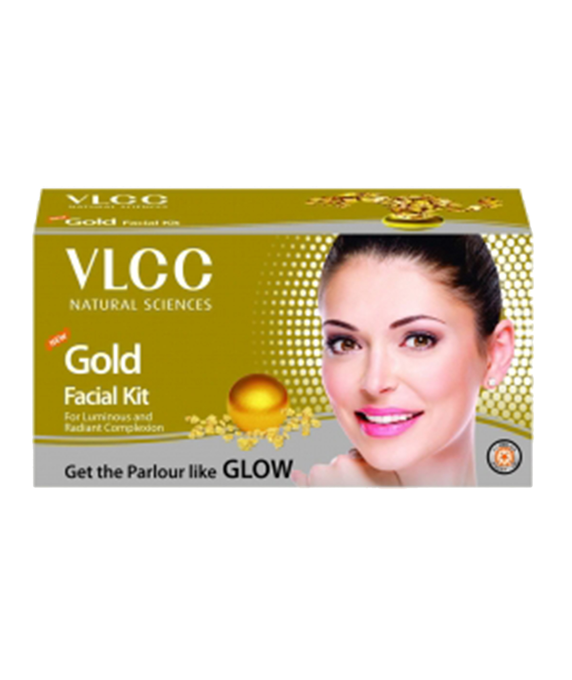 VLCC Gold Facial Kit 60g with Free Party Glow Facial Kit 60g