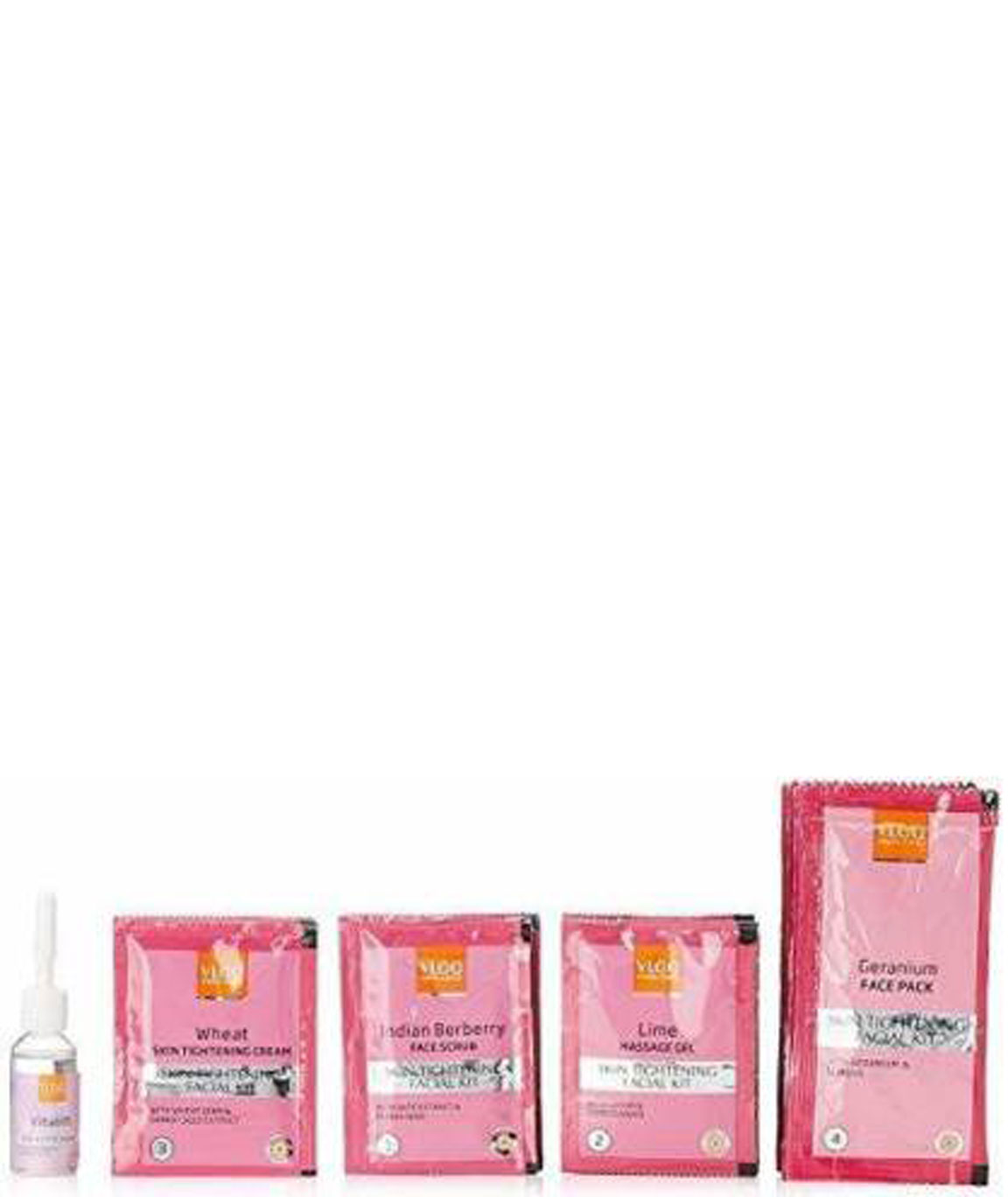 VLCC Skin Tightening Facial Kit Free 1 Additional Session Sachet Inside The Pack