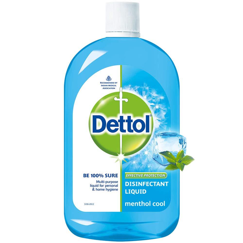 Dettol Liquid Disinfectant for Multi-Purpose Germ Protection, Menthol Cool, 500 ml