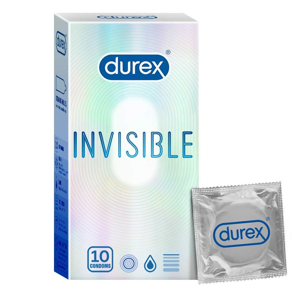 Durex Invisible Super Ultra Thin Condoms for Men – 10s