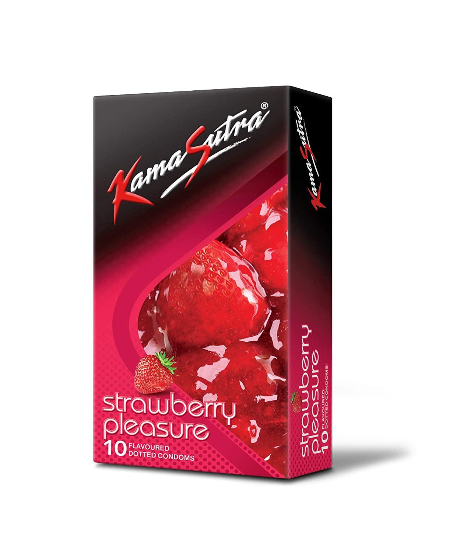 KamaSutra Strawberry Pleasure Flavoured Condoms Pack of 10