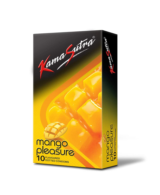 KamaSutra Mango Pleasure Flavoured Condoms Pack of 10