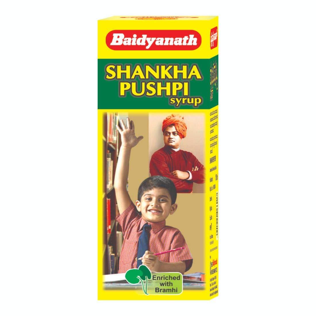 Baidyanath Shankhapushpi Syrup I Concentration Supplement I Mental Health Supplement I 450 ml