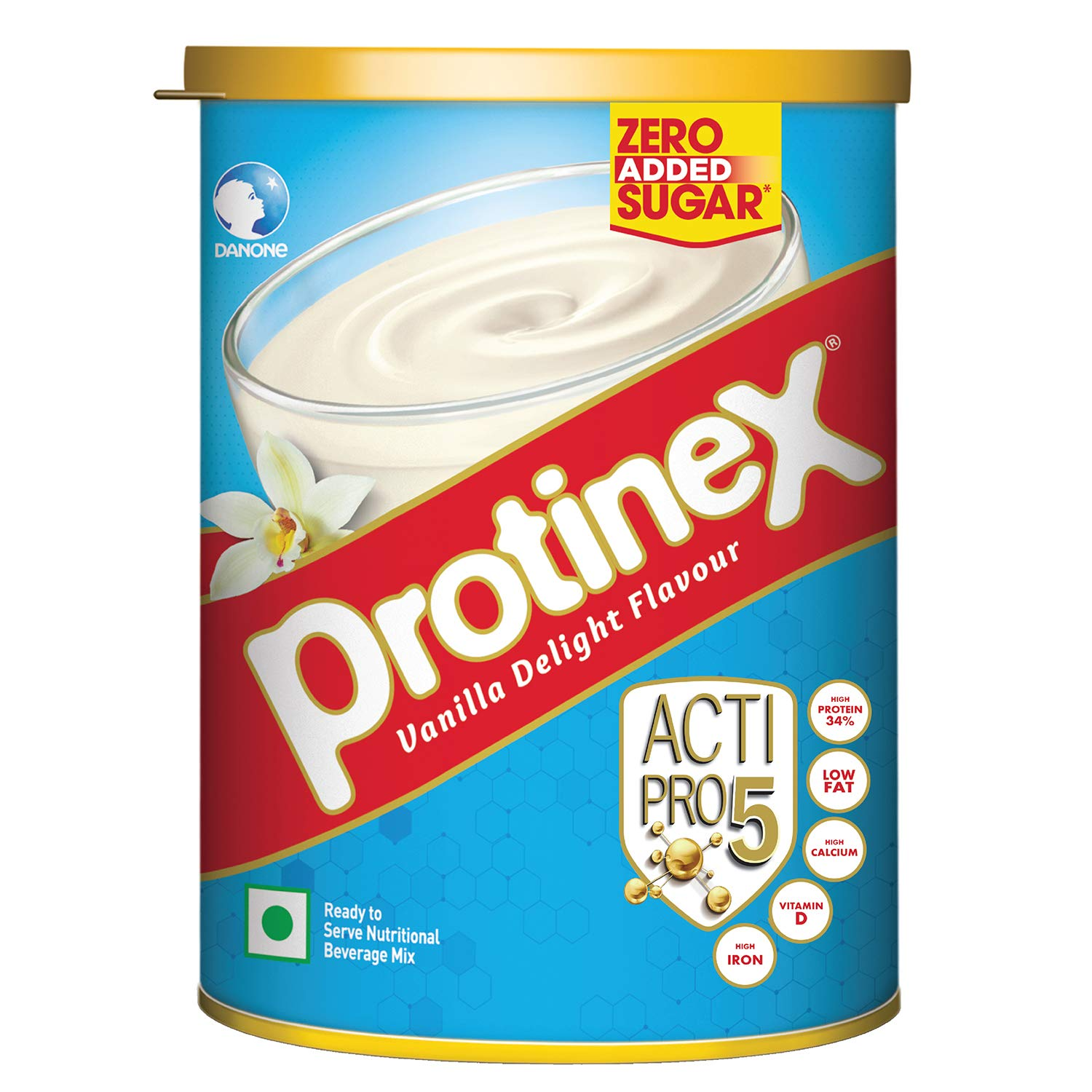 Protinex Health And Nutritional Drink Mix For Adults with High protein & 10 Immuno Nutrients, Vanilla Delight, 400gm