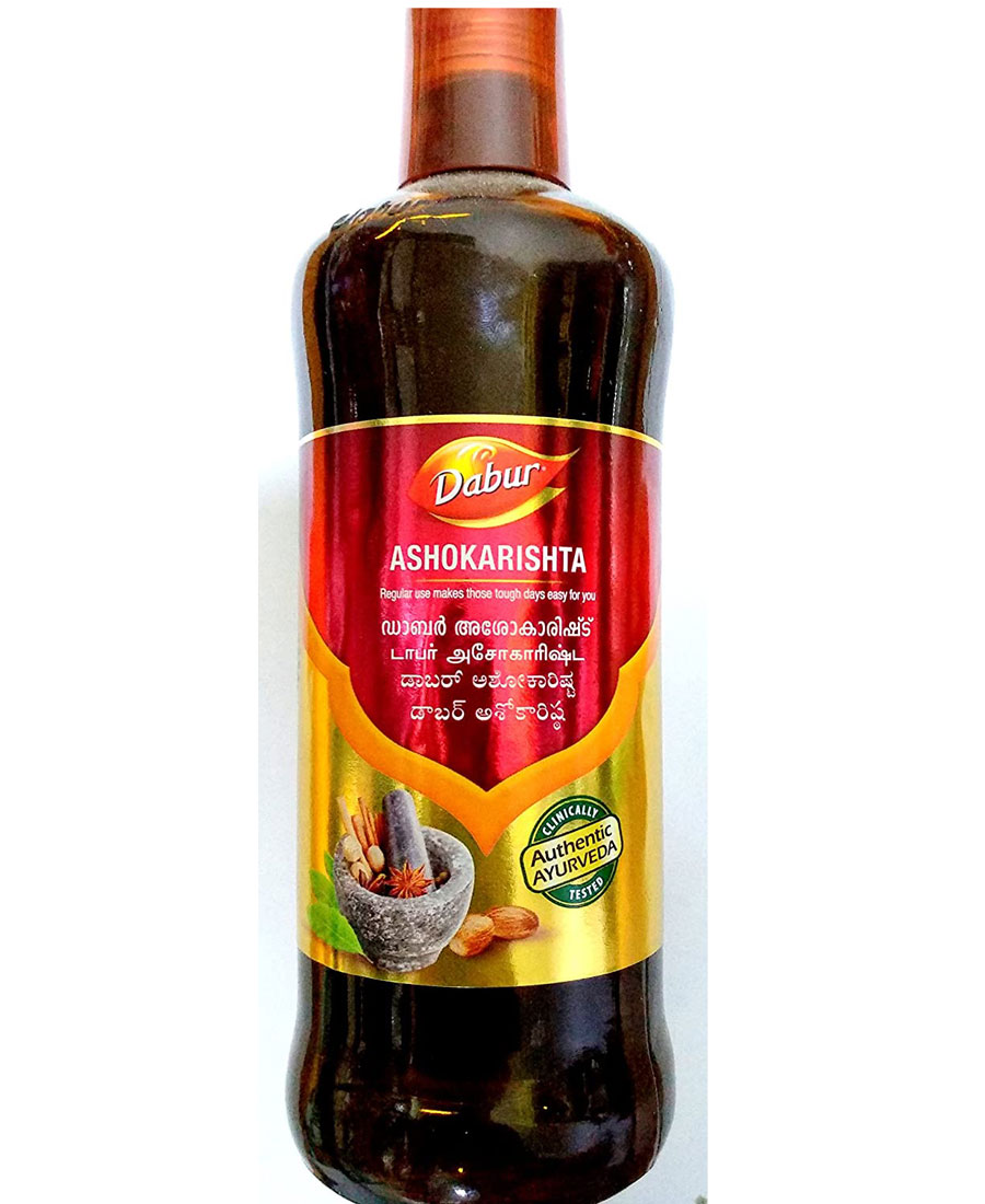 Dabur India Womens Ashokarishta Syrup, 450ml (Yellow)